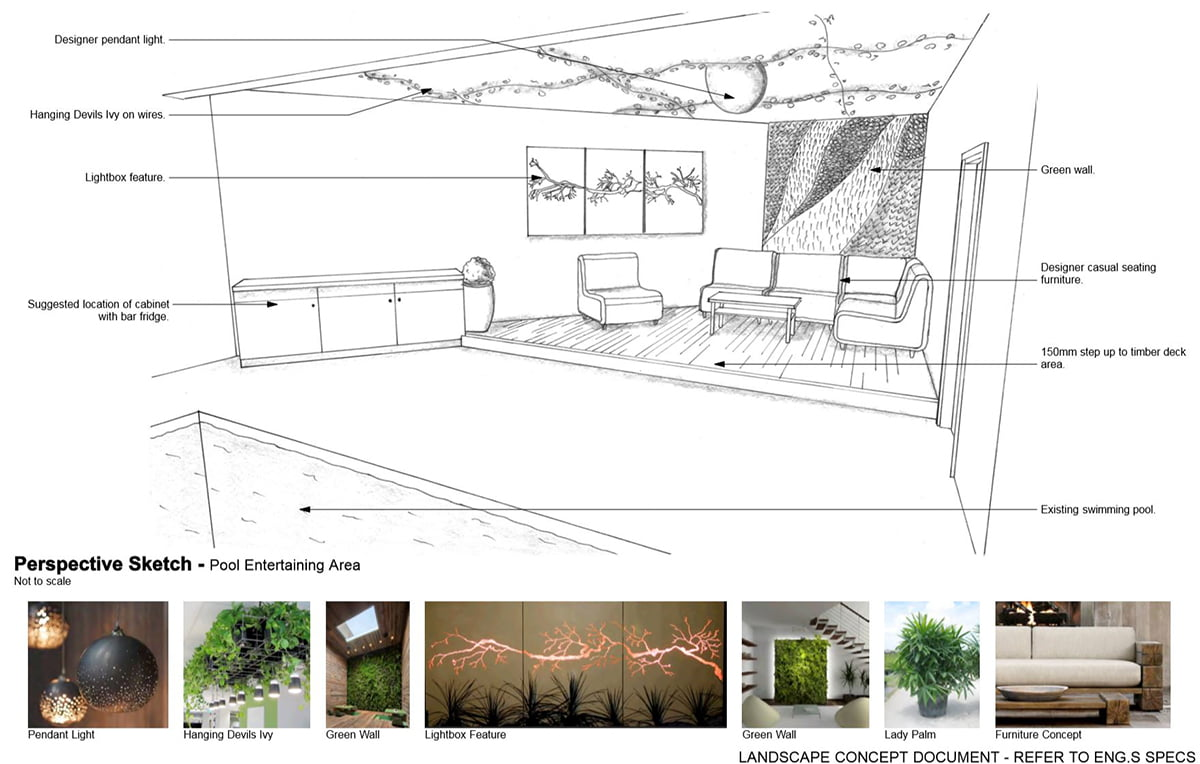 Merewether residence mud landscape design newcastle for Pool design newcastle